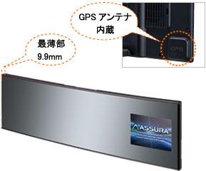GPSアンテナ内蔵でスッキリデザイン
