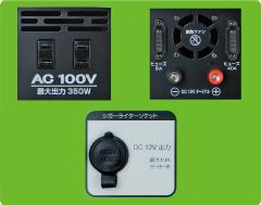 いろいろ使える3種類の出力ターミナル